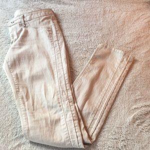 H&M skinny jeans size 27 beige